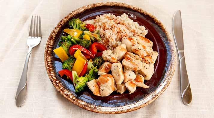 Правильное питание на тарелке