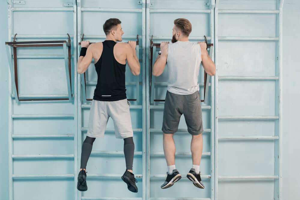 Спортсмены на тренировке